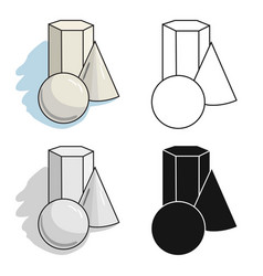 Geometric still life icon in cartoon style vector