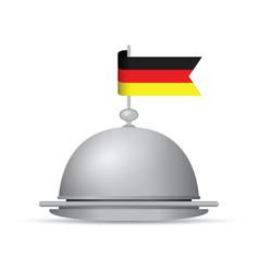 German flag dinner platter vector