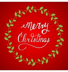 Hand drawn lettering merry christmas vector