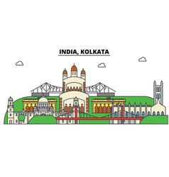 India kolkata hinduism city skyline vector