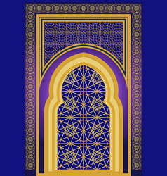islamic architecture ornamental backround vector image vector image