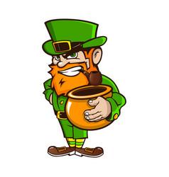 leprechaun on patricks day vector image vector image