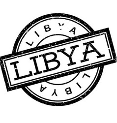 Libya rubber stamp vector
