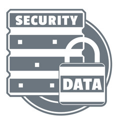 lock data security logo simple style vector image