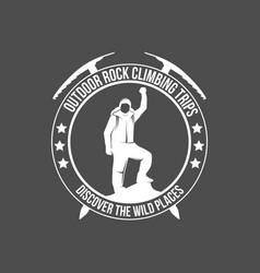 Mountain climbing vintage logos vector