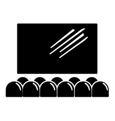 Movie theater screen icon simple black style vector