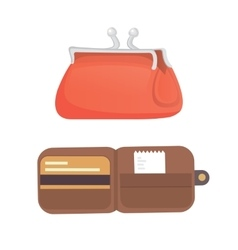 Purse Finance bag flat icons vector image