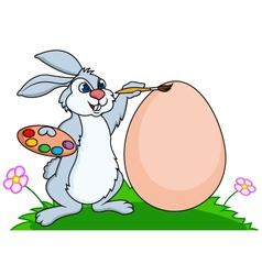 rabbit easter vector image vector image