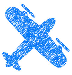 Screw aeroplane grunge icon vector
