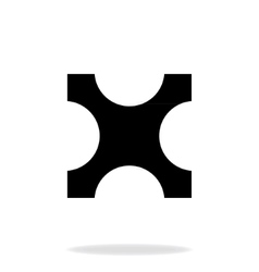 Separate part of the puzzle vector image vector image