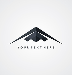 stealth logo aircraft airplane logotype vector image vector image