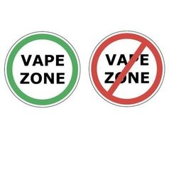 vape zone sign vector image