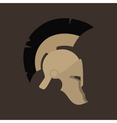 Antiques roman helmet isolated vector