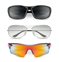 Man sunglasses set vector