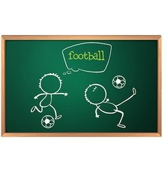 A board with football players vector