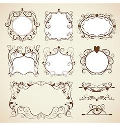 Elegance vintage frames vector