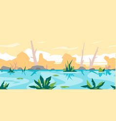 River game background landscape vector
