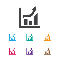 of business symbol on diagram vector image