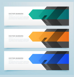 Business style web banner set design collection vector