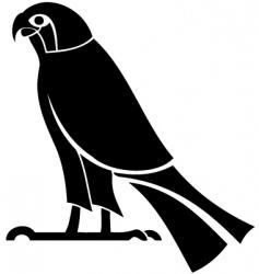 Egyptian god horus silhouette vector image