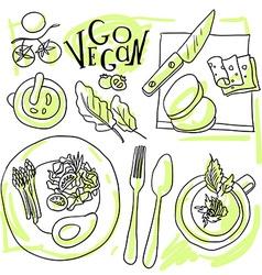 Assorted vegetable vector