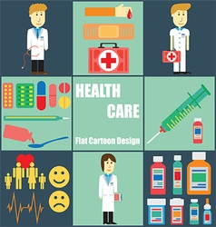 Health care people vector