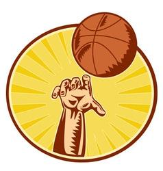 Basketball retro symbol vector