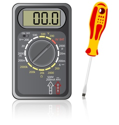 Multimeter screwdriver vector