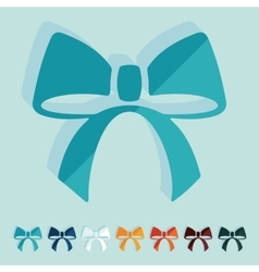 Flat design ribbon vector image