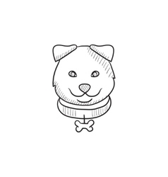 Dog head sketch icon vector
