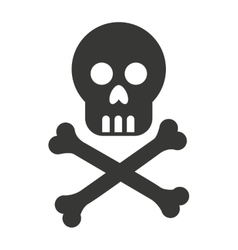 skull bones cross caution icon vector image