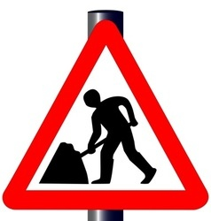 Men at work traffic sign vector