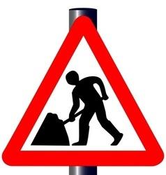 Men at Work Traffic Sign vector image