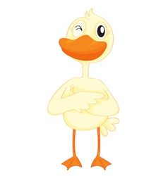 a duck vector image vector image