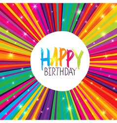 a Happy Birthday Greeting Card with color vector image vector image