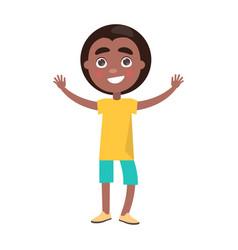 afro boy celebrates international holiday for kids vector image vector image