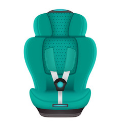 baby car seat isolated on a white background vector image vector image