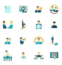 Career Icon Flat Set vector image