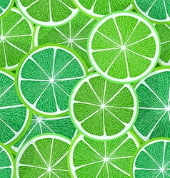 Citrus seamless pattern Lime vector image