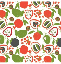 colorful fruit wallpaper vector image vector image