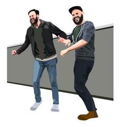 Dancing men vector