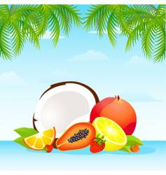 fruit punch vector image