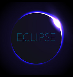Full eclipse eclipse with vector