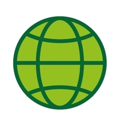 Global world planet icon green vector
