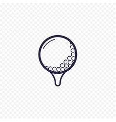 golf ball simple line icon golfing thin linear vector image vector image