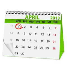icon calendar for April 1 vector image vector image
