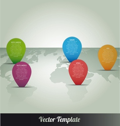 Information Continent Global World Map vector image vector image
