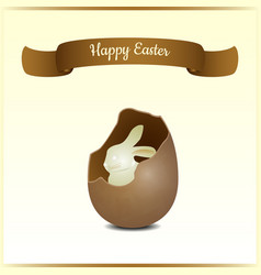 minimalistic greeting and gift card for easter vector image vector image