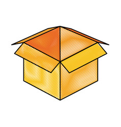 package delivery open box vector image