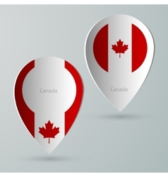 Paper of map marker for maps canada vector